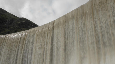 Time lapse of water spilling over Matilija Dam in Ojai,... Stock Video Footage