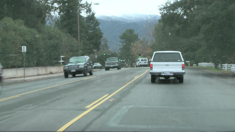 Point of view time lapse driving in downtown Ojai,... Stock Video Footage