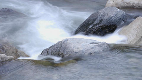 Close up time lapse of Roaring River Falls in Kings... Stock Video Footage