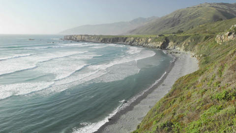 Time lapse of waves breaking on Sand Dollar Beach in Big Sur, California Footage