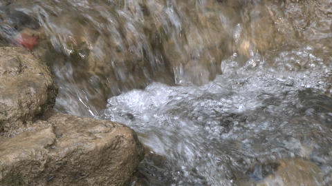 Close up of a small waterfall on the North Fork Matilija... Stock Video Footage