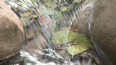 Close up zoom out on a waterfall in Wheeler Springs above... Stock Video Footage