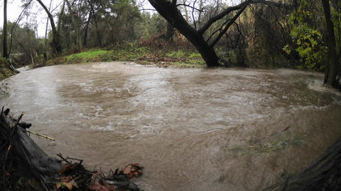 Time lapse from three angles of San Antonio Creek... Stock Video Footage