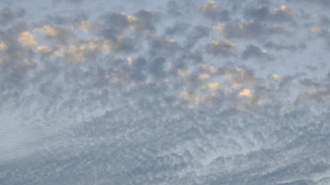Time lapse of slow moving altocumulus clouds over Ventura, California Footage