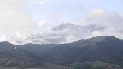 Time lapse of a storm clearing across the Santa Ynez... Stock Video Footage