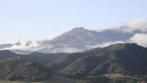 Time lapse of a storm clearing across the Santa Ynez Mountains above Oak View, California Footage