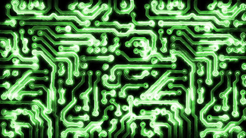 Circuit Board With Electric Signals Image