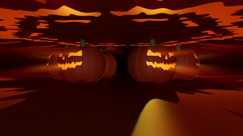 Halloween Pumpkins VJ Loop Animation