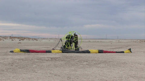 Powered Parachute final preparation M HD Live Action