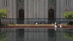 Reflection pool cart Salt Lake City P HD 0713 Footage