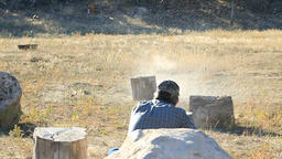 Rifle exploding vegetable super slow P HD 7932 Live Action