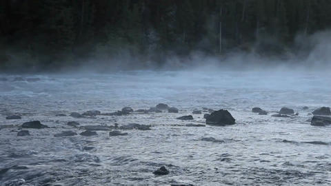 River rapids and mist P HD 2537 Footage