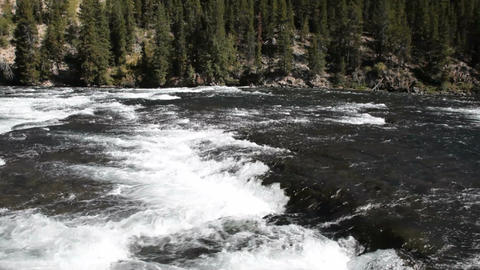 River white water flow Yellowstone P HD 2635 Footage