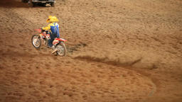 Rodeo clown ride motorcycle P HD 1120 Footage