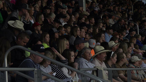 Rodeo crowd in stands night HD 275 Footage