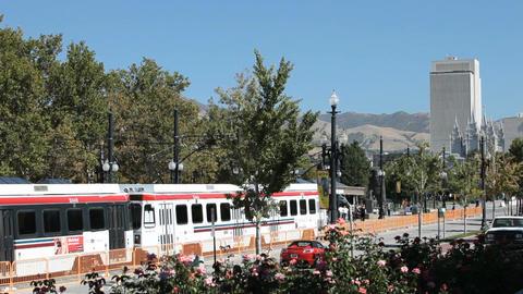 Salt Lake City Trax trains P HD 2460 Footage