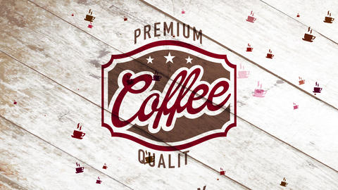 classical quality coffee science for fried colombian cafe with filth seal over monochromatic timber Animation