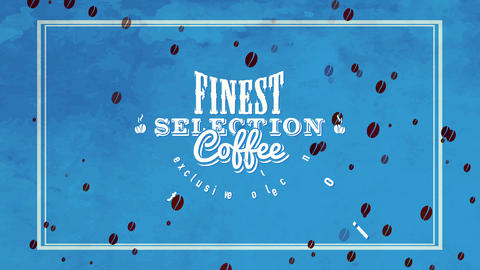 healthful coffee drink mark for limited group of finest specific scent with vintage component on Animation