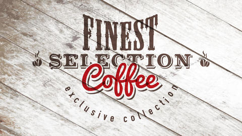 exclusive collection coffee of finest grain selection on wood table surface with wild west elements Animation
