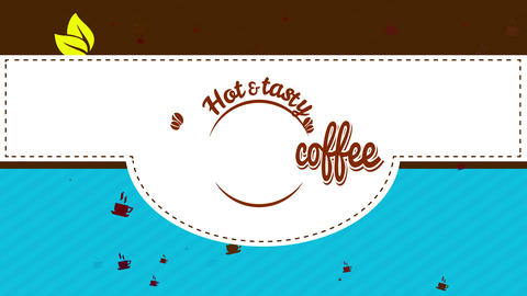caffeine affection hipster coffee art with round retro icon for tasteful and pure burning or cold Animation