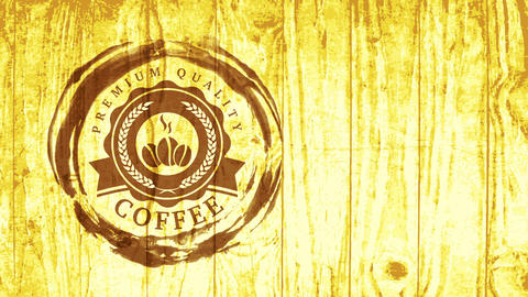 delicious beverage aesthetic cafe retail with brown coffee grunge around burning beans graphical Animation