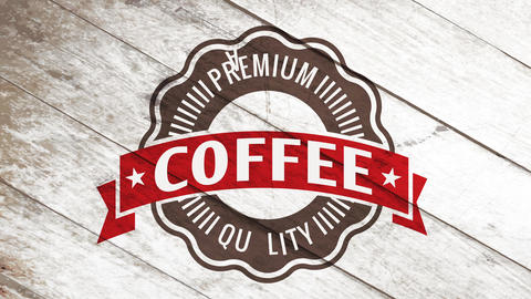 industrial coffee product brand with minimalist circle design and vintage letters for small cafe or Animation