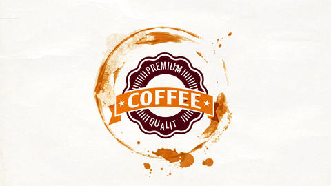 coffee culture tasting event signboard with delicious flavor and fresh aroma drink with big emblem Animation