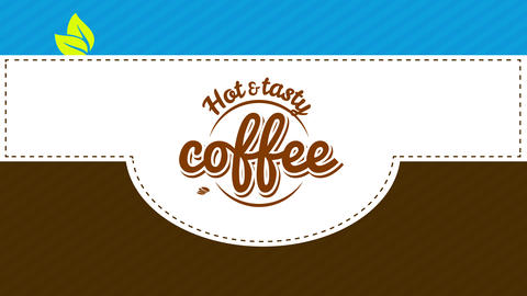 caffeine love hipster coffee art with circular retro symbol for tasteful and fresh burning or chilly Animation