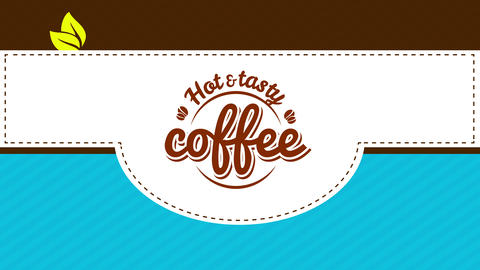caffeine love hipster coffee art with round retro icon for tasty and fresh hot or cold latte Animation