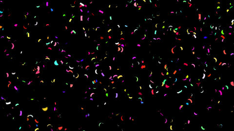 Confetti Falling / QuickTime / Alpha Channel / Prores 4444 Animation