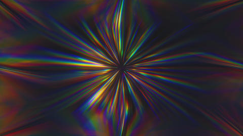 Kaleidoscopic Refracting Iridescent Prism Animation
