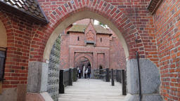 Malbork Castle. Bridge between middle castle and high castle Live Action
