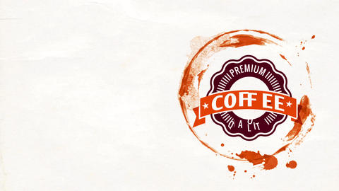 coffee culture taste event signboard with delicious taste and fresh essence beverage with huge Animation