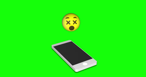 emoji sick dizzy sick smartphone sick emoji green screen dizzy green screen smartphone green screen Animation