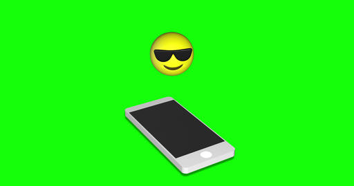 emoji cool sunglasses cool smartphone cool emoji green screen sunglasses green screen smartphone Animation