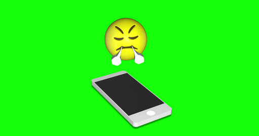 emoji anger smartphone anger triumph anger emoji green screen smartphone green screen triumph green Animation