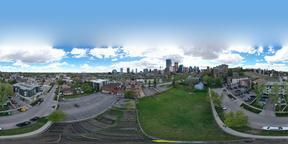 Downtown Caglary 360 degree sky view VR 360° Photo