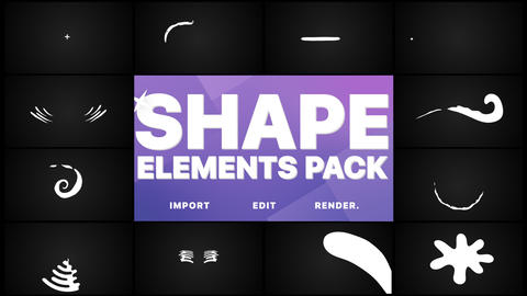 Shape Collection And Tansition Pack Animation