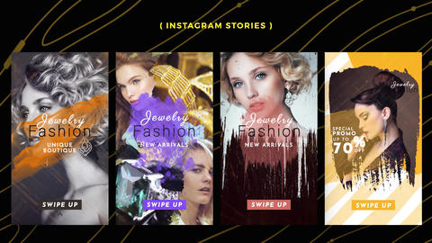 Instagram Stories: Jewelry Pack After Effects Template