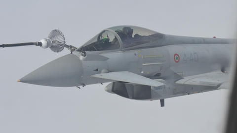 Combat Aircraft in Flight Refueling Live Action
