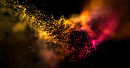 abstract stream array colorful glitter sparkle yellow, orange lines with particles on black ライブ動画
