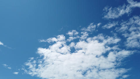 Wonderful time lapse white fluffy cumulus clouds in a mackerel blue sky Live Action