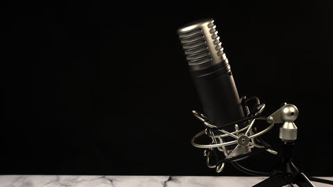 Microphone on black background GIF