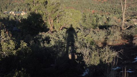 Sedona Arizona couple shadow mountain valley landscape 4K Footage