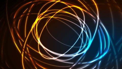 Glowing neon ellipses, bright traces video animation Animation
