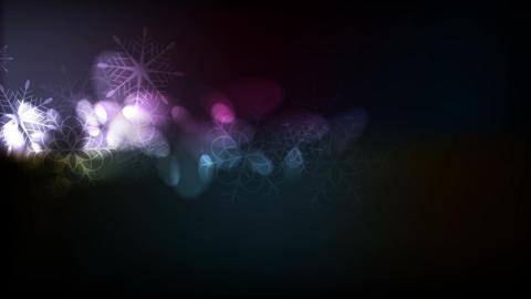 Magic bokeh light Christmas video animation Animation