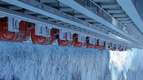 Ship ocean balconies lifeboats P HD 4280 Footage