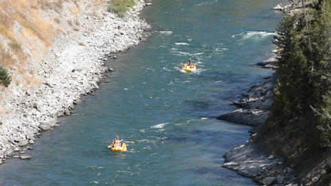 Snake River rafting friends and family fun P HD 3454 Footage