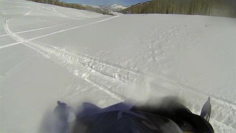 Snowmobile fun turning on mountain HD 001 Footage