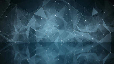 Network shape with reflection loopable Animation